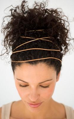 Как можно заколоть волосы - c