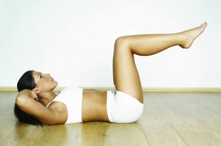 плоский живот упражнениями за неделю