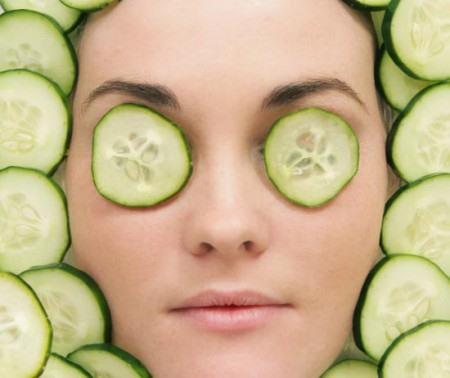 огуречная питательная маска для лица