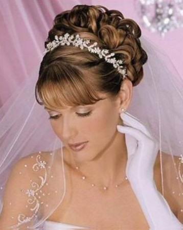 свадебные прически на среднюю длину