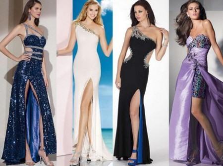 Вечерние длинные облегающие платья