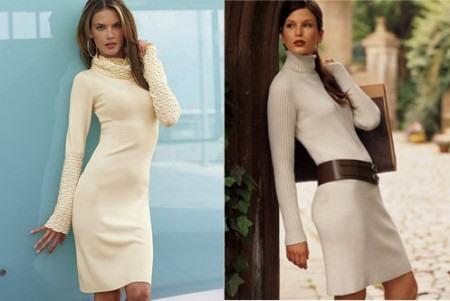 Приталенные трикотажные платья