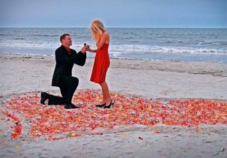 Романтическое предложение замужества