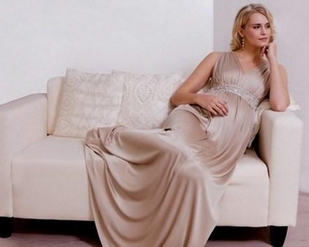Платье в греческом стиле для беременной