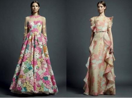 Разноцветные платья от валентино