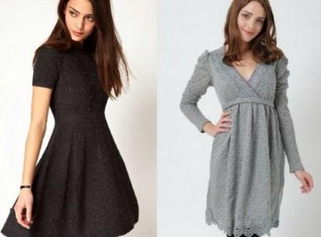 Трикотажное платье расклешенное