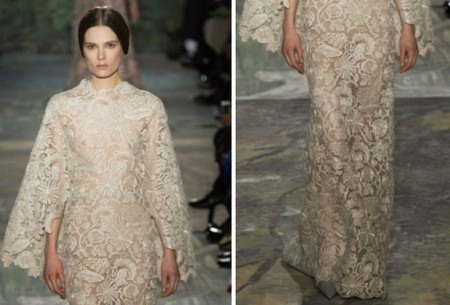 Свадебное кружевное платье от валентино