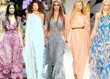 Длинные повседневные платья 2015