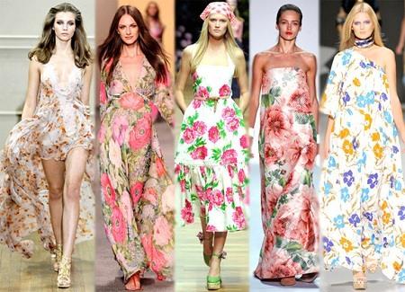 Модные тенденции длинных платье