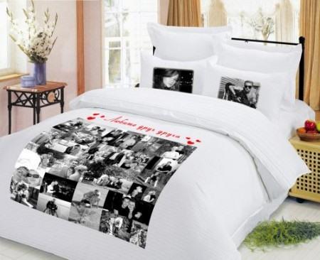 Постельное белье с фотографиями молодоженов