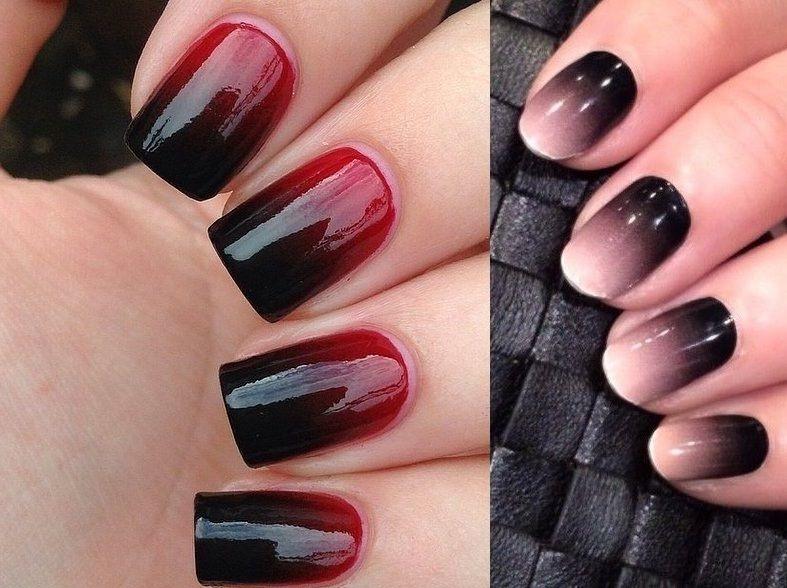 черно-бордовые