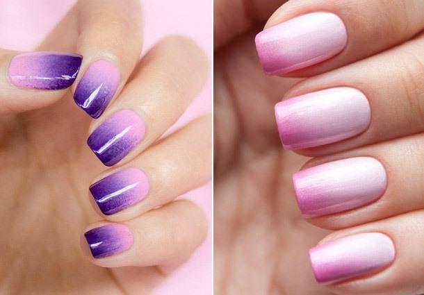 сиреневый и розовый